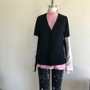 A.L.C. Japanese Wool Color Block Cardigan